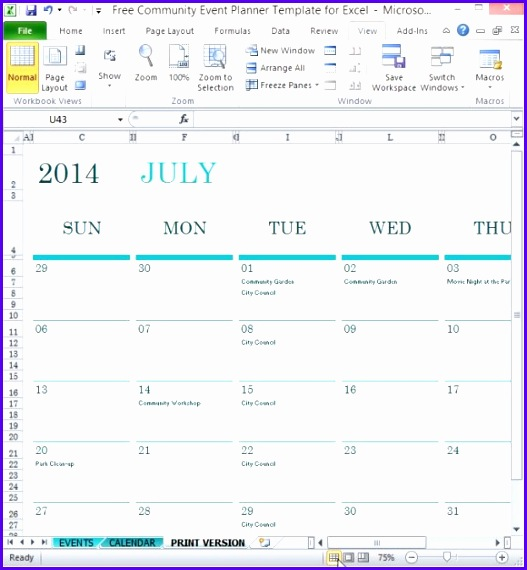 Free munity Event Planner Template For Excel 527570