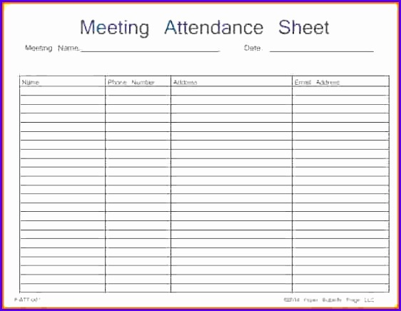 8 excel attendance template - exceltemplates