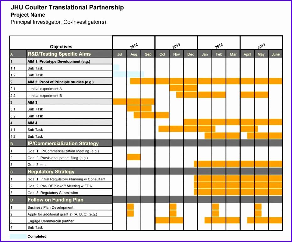 Free Excel Gantt Chart Template DOWNLOAD 931770
