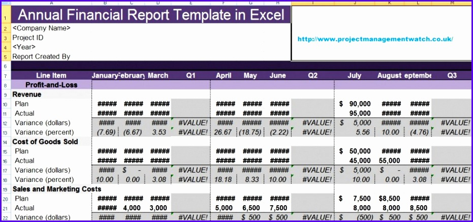 Financial Reporting Templates In Excel 931437