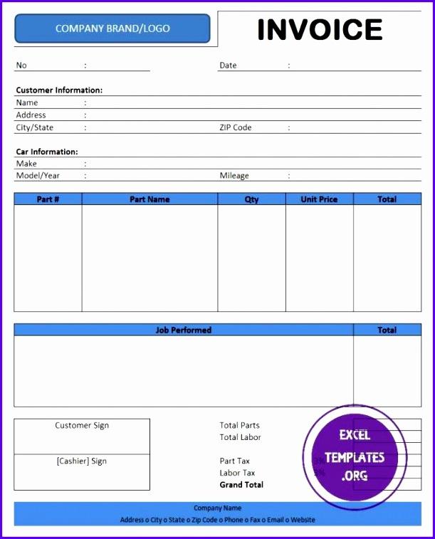 Auto Repair Invoice Template Excel Template Auto Repair Receipt Template Template Medium 611757