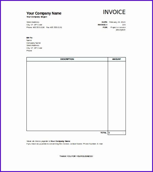 20 Blank Invoice Templates 532598