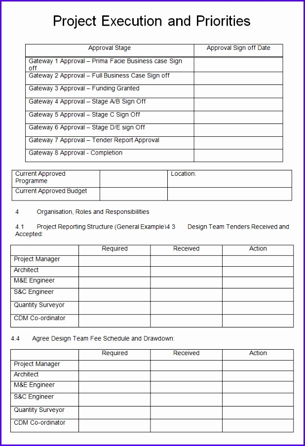Project Execution Plan Template 4 Free Word Pdf Excel