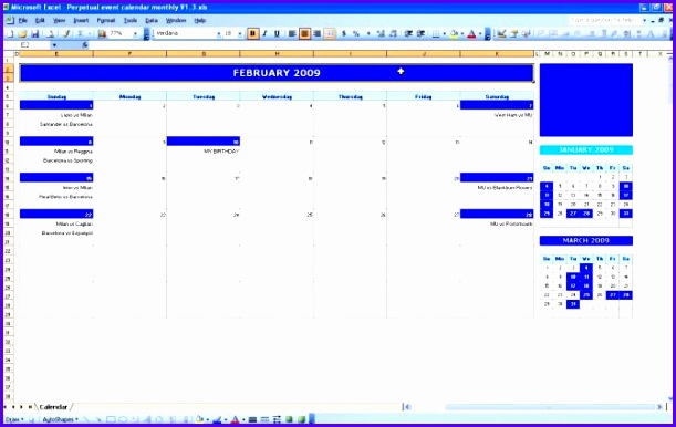 Monthly Event Calendar Excel Templates 2017 Calend Excel Templates Calendar Template Medium 611386