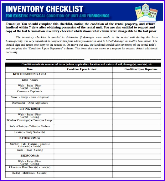 Sample Inventory Checklist 10 Documents In Word Excel Pdf 527579