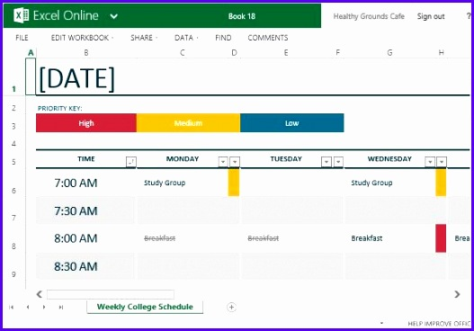 how to easily create class schedules using excel scheduling excel template 527368