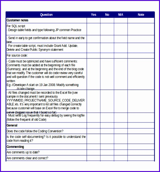 Simple Template Checklist Free Excel Download