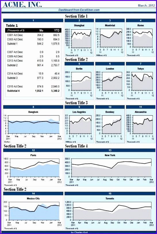 Excel Dashboard Templates with Charts & Tables Portrait Style 546813