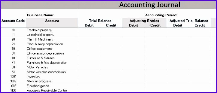 Accounting Journal Template 722312