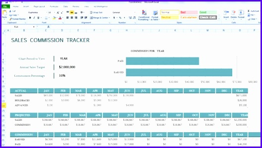 Sales mission Tracker Template for Excel 2013 527299