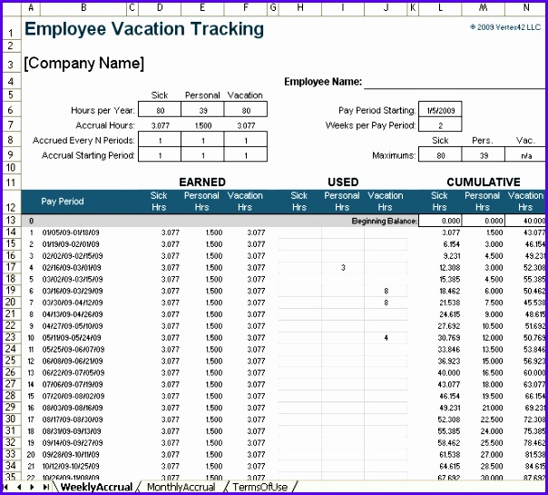 Excel Vacation Calendar Template  Exceltemplates  Exceltemplates