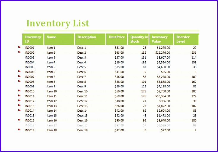 Inventory Worksheet Template 734513