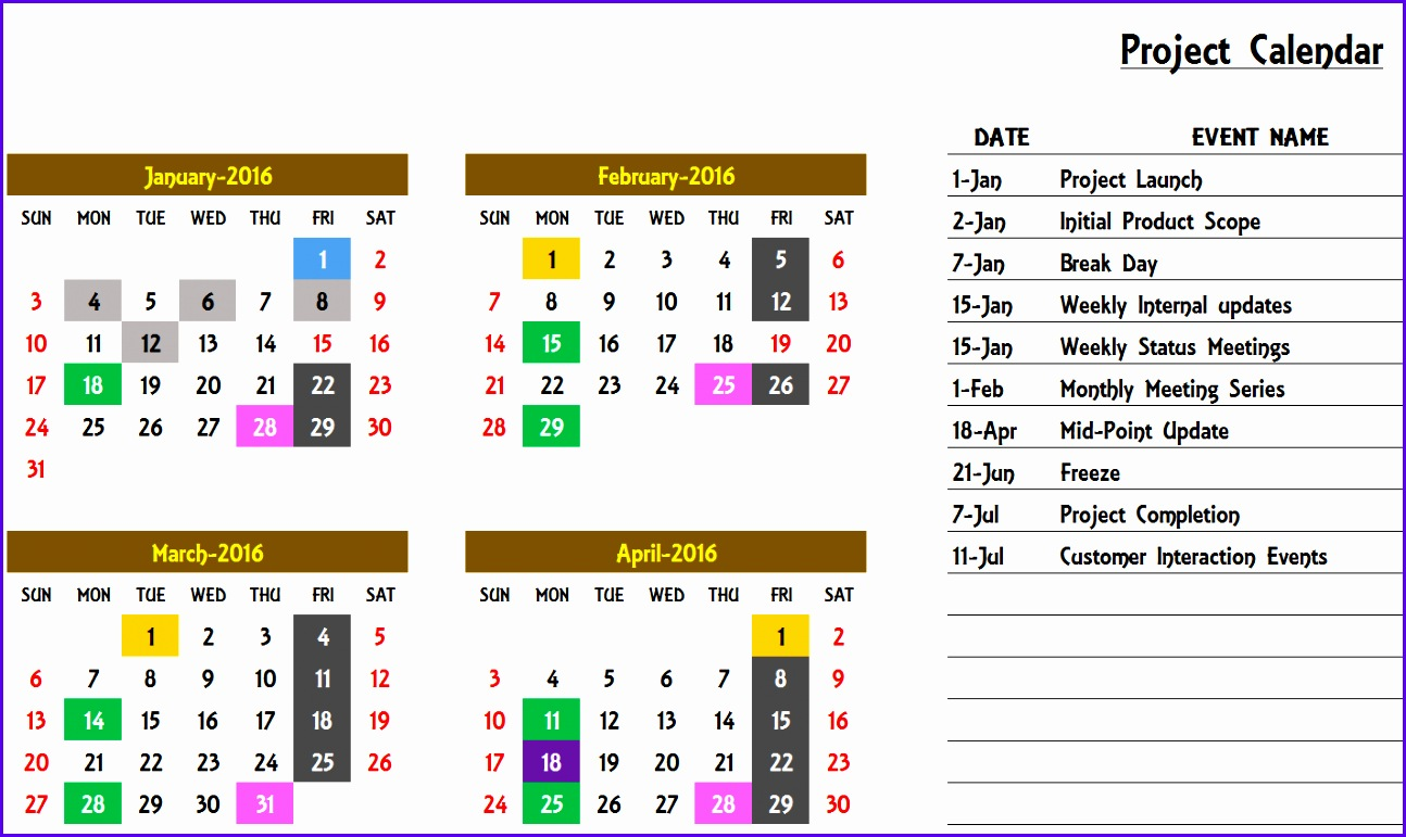 annual calendar of events template - 6 excel yearly calendar template 2014 exceltemplates