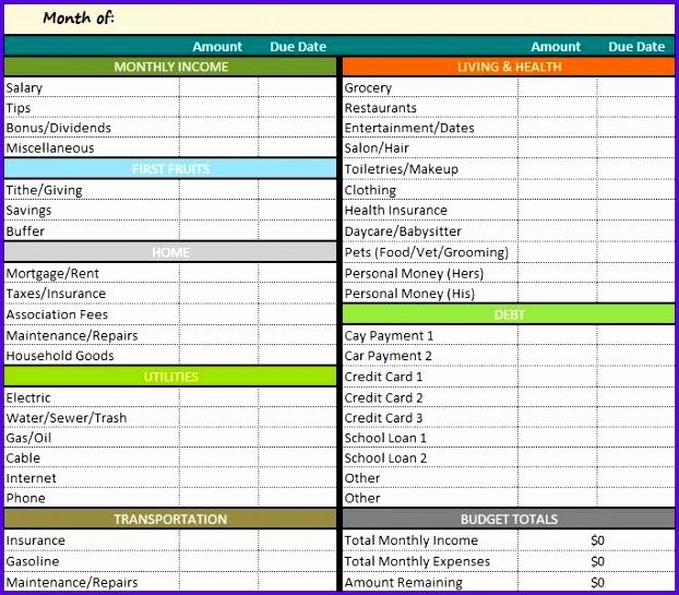 Get Restaurant Bud Spreadsheet Excel Template 622545