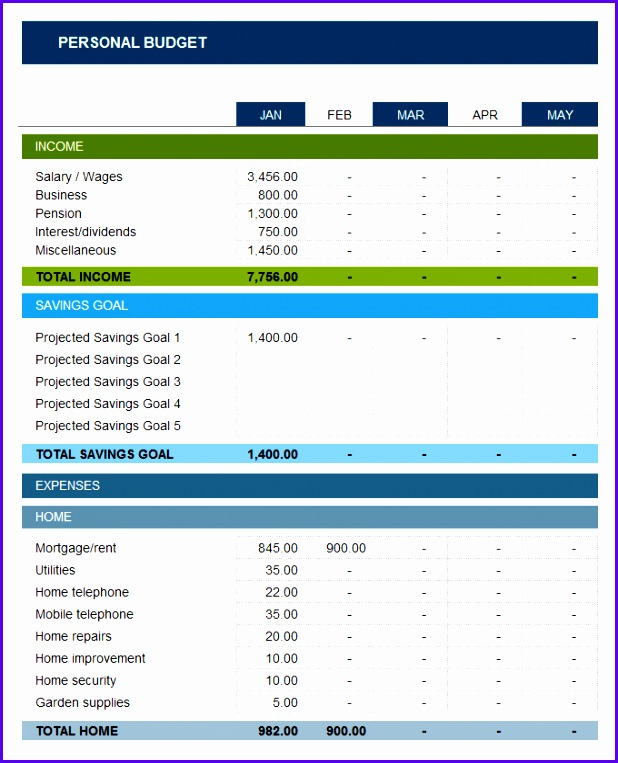7 Free Budget Template Excel - ExcelTemplates - ExcelTemplates