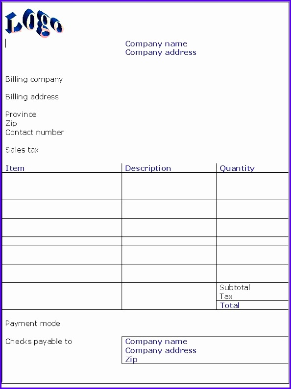 Simple Invoice Template Uk 594795