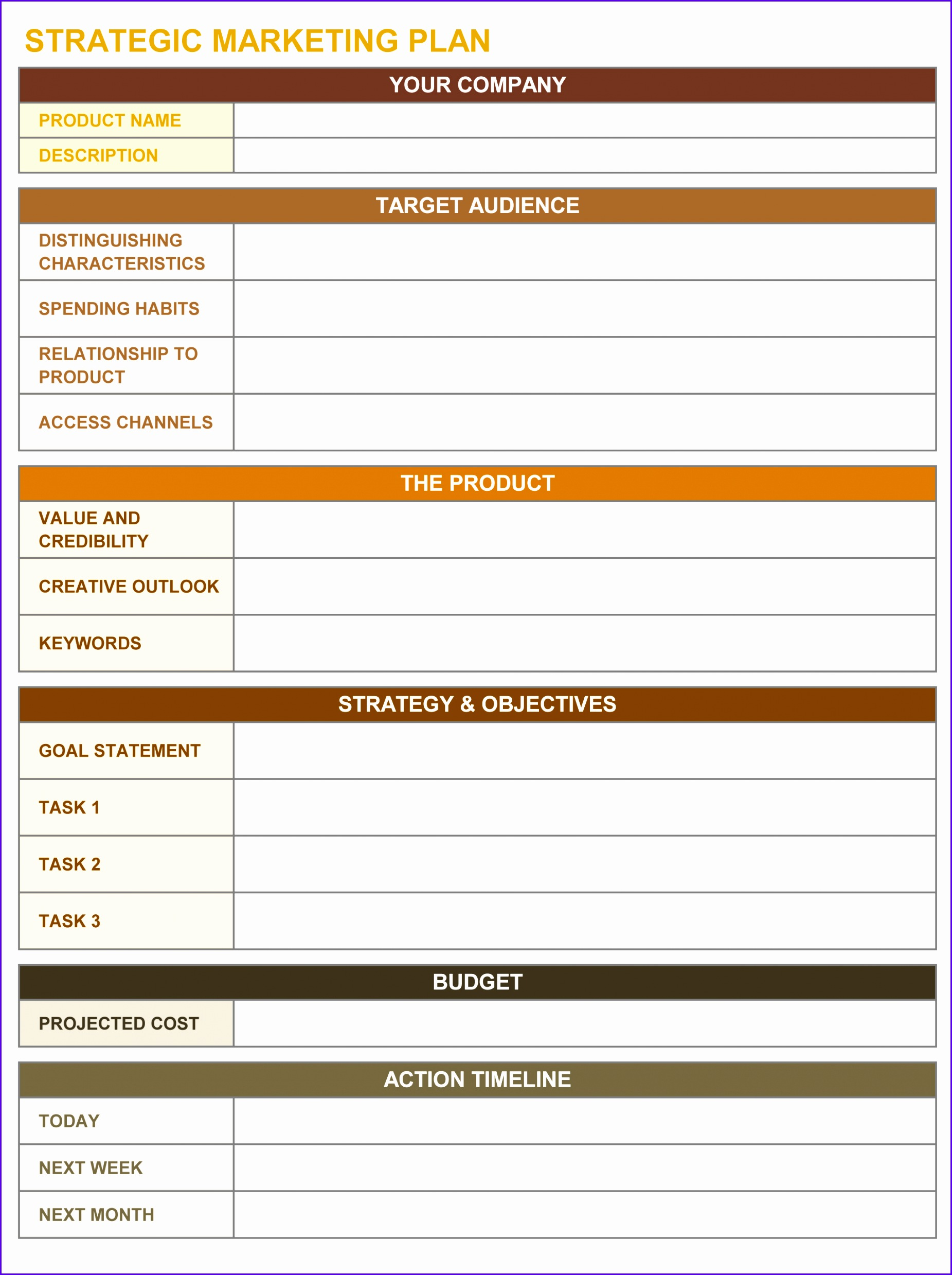 Goals Template Excel ExcelTemplates ExcelTemplates - Marketing plan timeline template excel