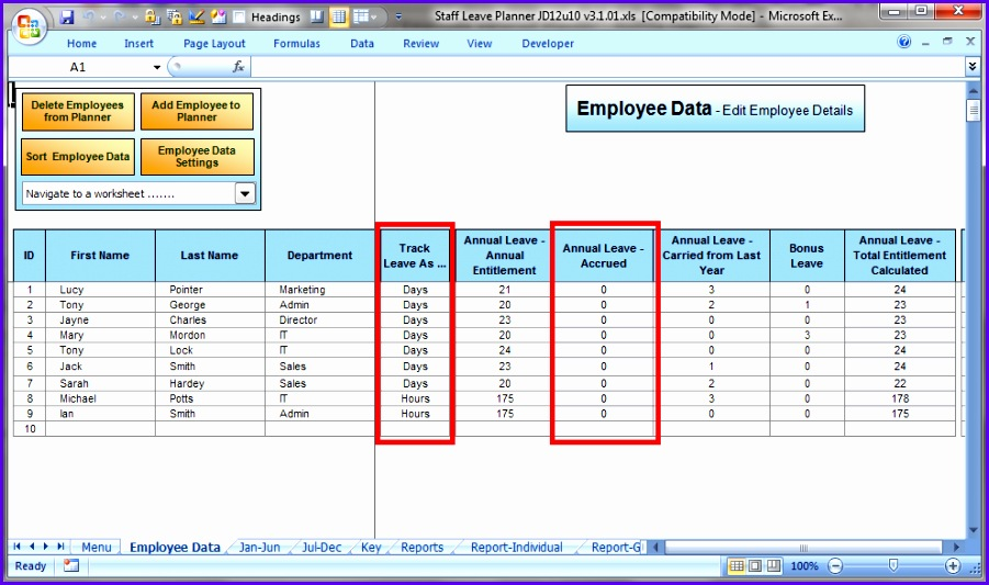 Employee Tracking template 8789 901533