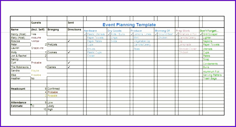 event planning checklist excel 818441