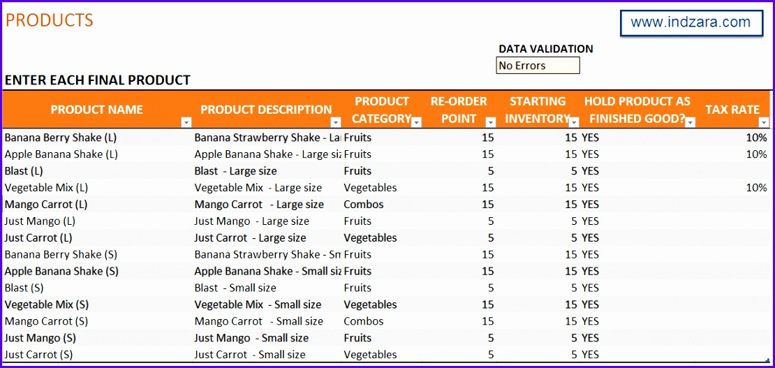 Manufacturing Inventory & Sales Manager Excel Template BOM & Invoice 1110527