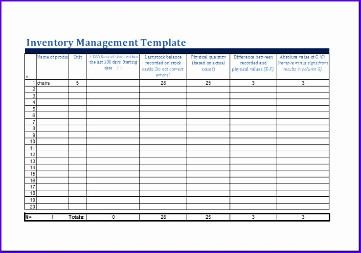 inventory management template 738517