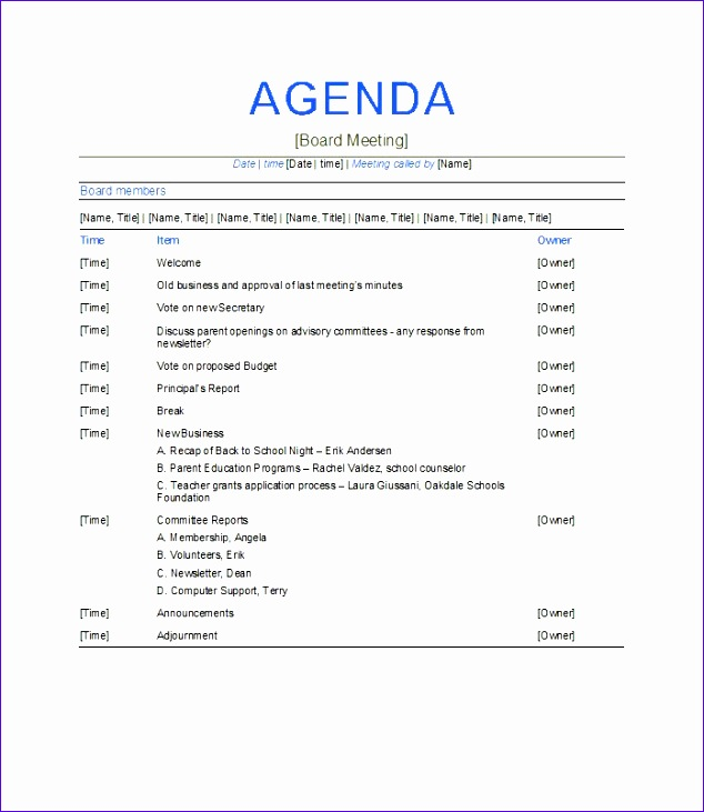 39 professional agenda template examples for meeting and conferences
