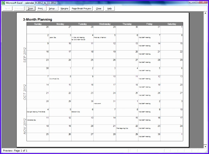 Month Calendar Template Excel  Exceltemplates  Exceltemplates