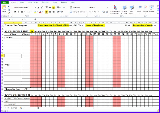 ... Sample Monthly Timesheet Template Excel E6kwv Awesome 6 Timesheet  Template Excel 582406 ...