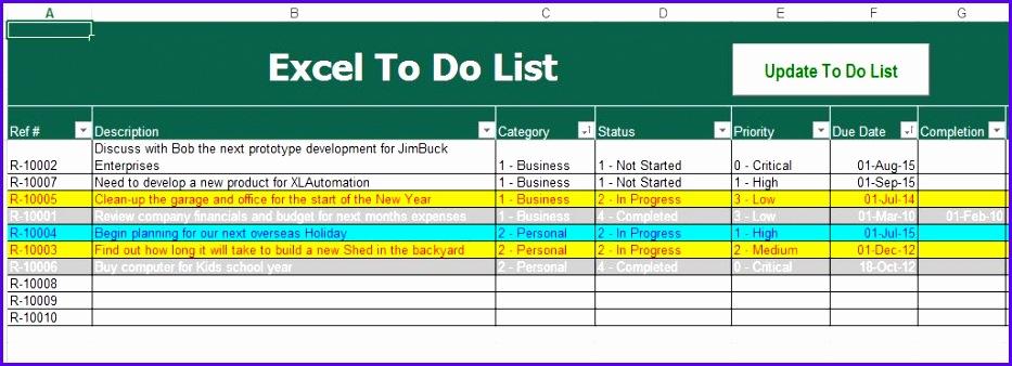 Free To Do List Excel Template Klpyvgxb jocuricuatv 933338