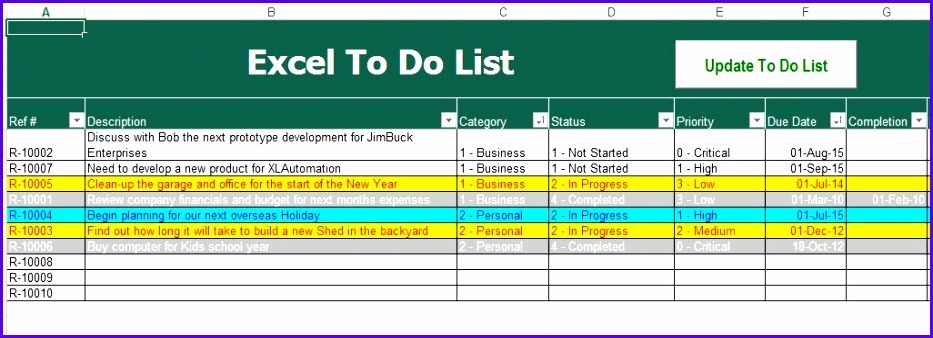 Free To Do List Excel Template Klpyvgxb jocuricuatv 933338