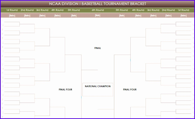 Sample tournament Template Excel Ddzes Fresh Printable Ncaa tournament Brackets 903545