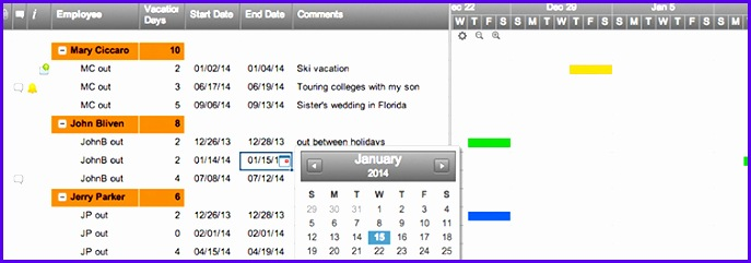 Vacation Calendar Template Excel  Exceltemplates  Exceltemplates