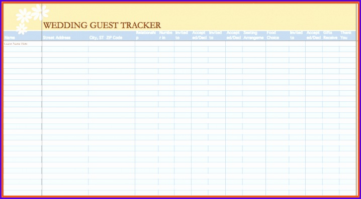 wedding guest list excelding guest list template excel wedding guest list template 718397