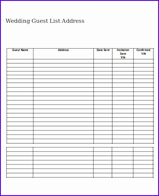 Lovely Sample Wedding Guest List Ideas  Resume Ideas  BayaarInfo