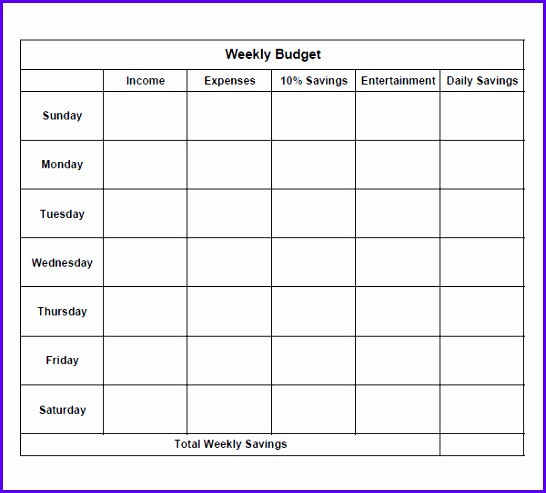 Weekly Budget Excel Template  Exceltemplates  Exceltemplates