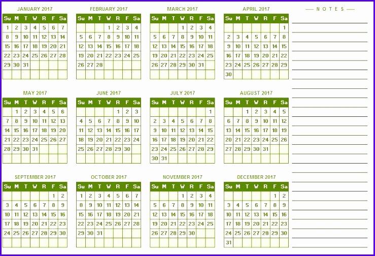 excel year calendar 739504