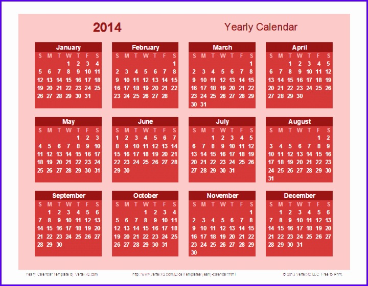 Yearly Calendar Template Bold theme Screenshot 720561