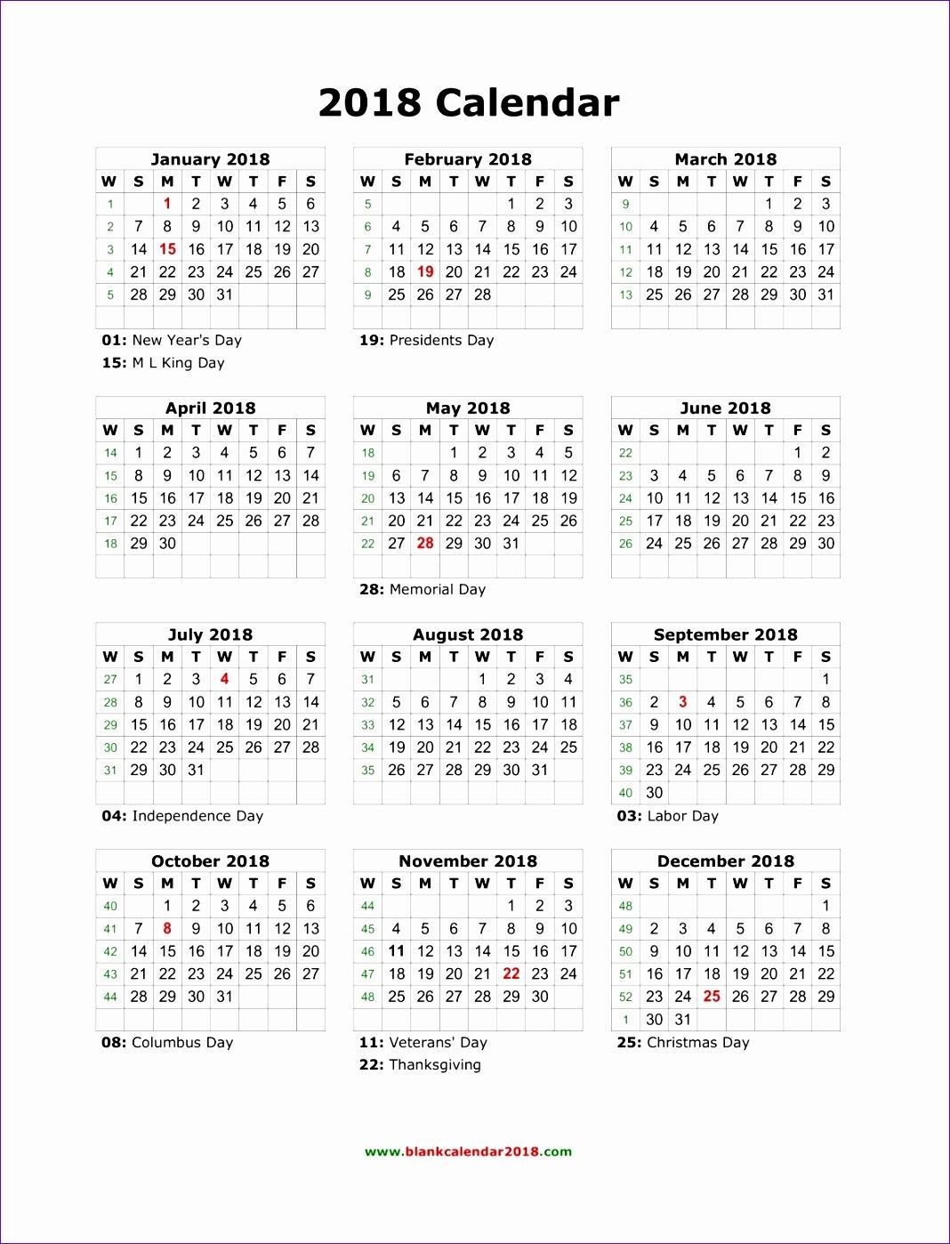 blank 2018 calendar 882