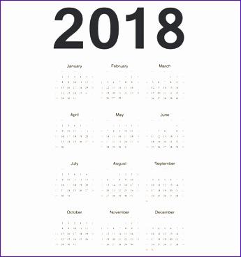 yearly calendar 2018 1663 345368