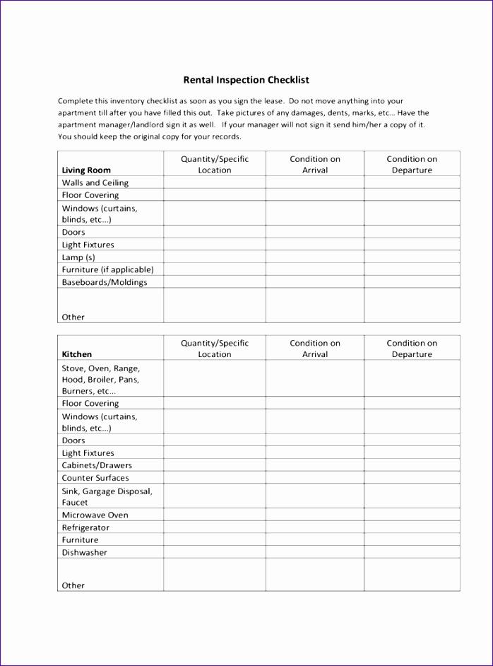 rental walk through checklist 698942