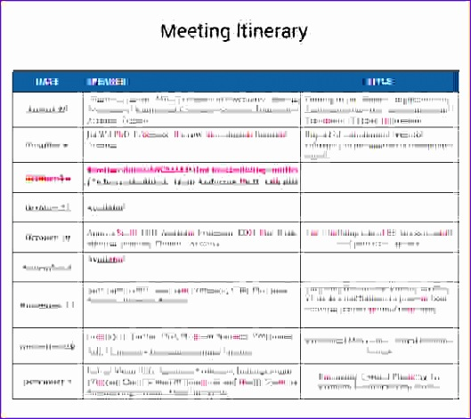 business travel itinerary template 529471