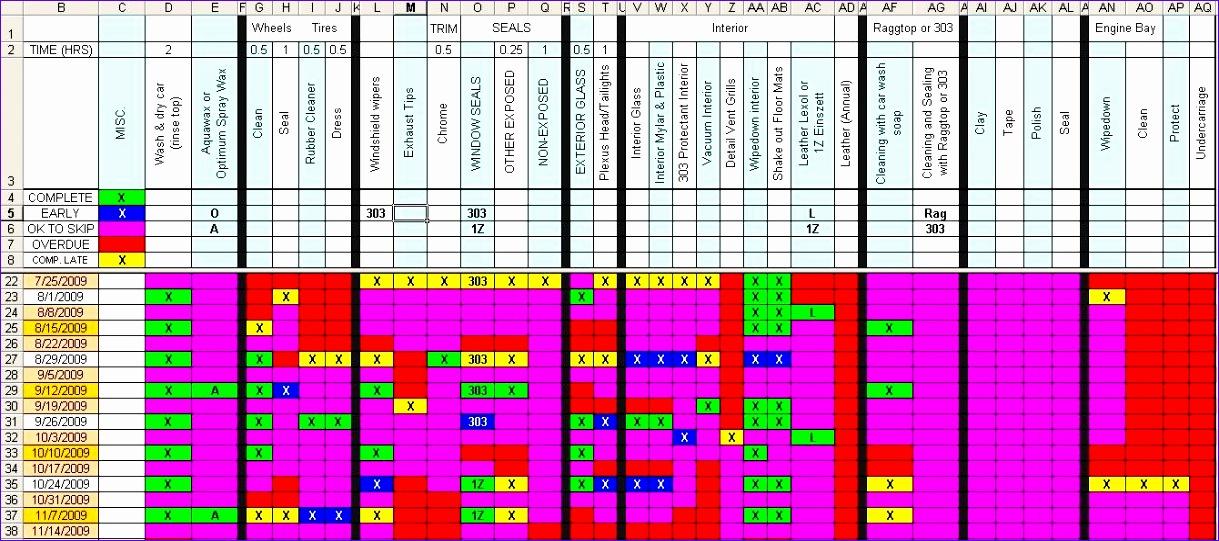detailing maintenance schedule 1219541