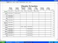 8 Scheduling Template Excel