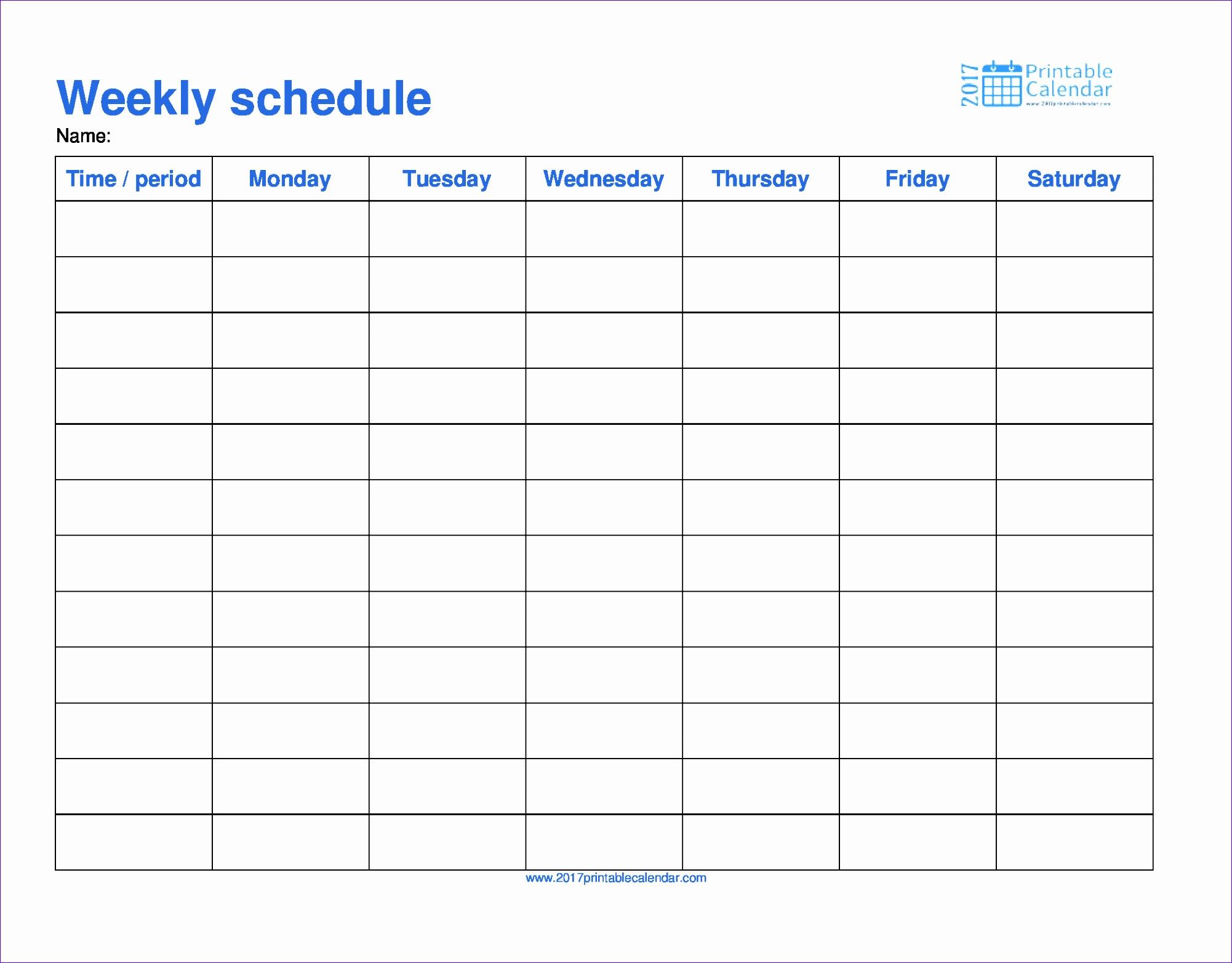 schedule template 20021564