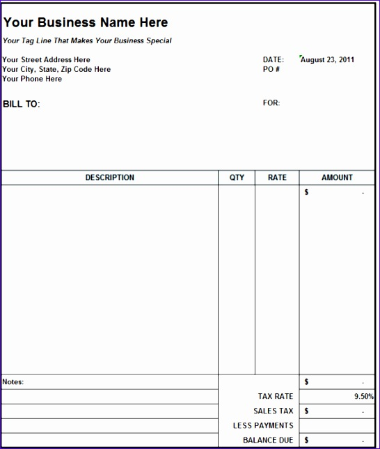 subcontractor invoice template excel 2623 546644
