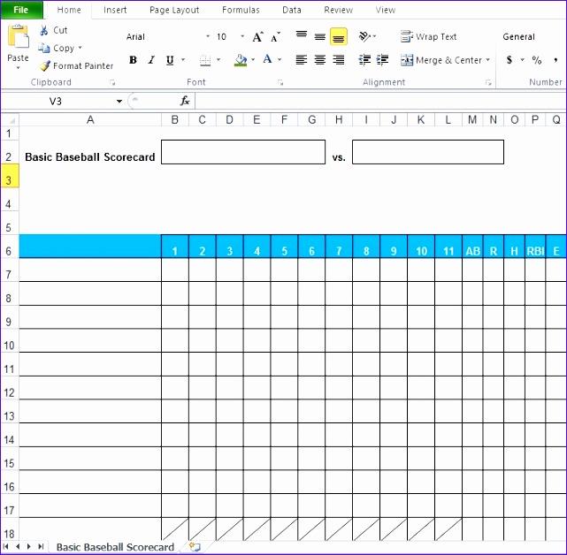 14 Scorecard Template Excel