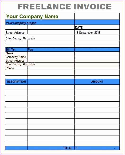 7 Service Invoice Template Excel