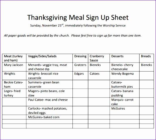 sign up sheet template 532477