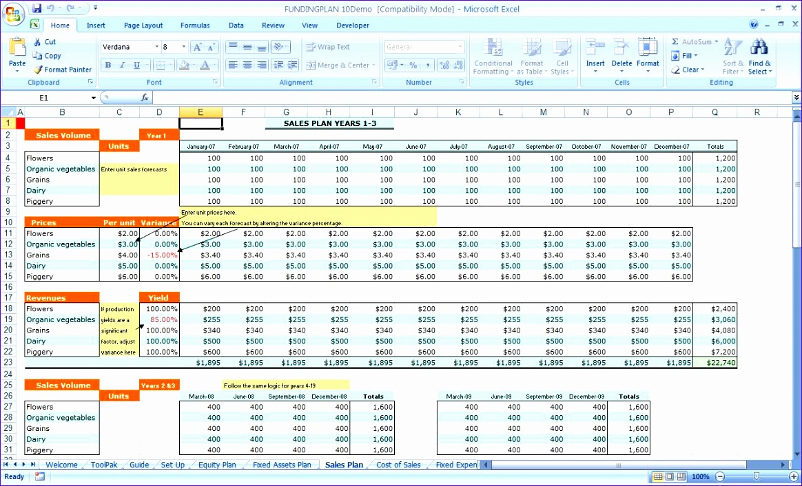 excel funding and equity plan 1164706