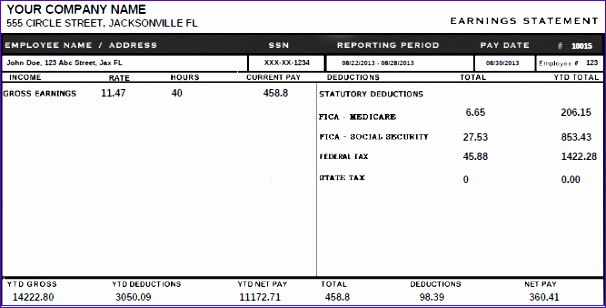 pay stub template 606308